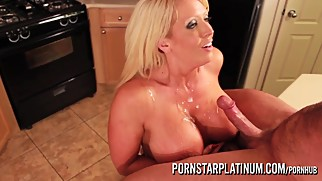 PornstarPlatinum - Alura Jenson fucking in the kitchen