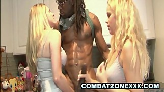 Angela Attison and Britney Young - Busty Blondes And The Big Black Dong