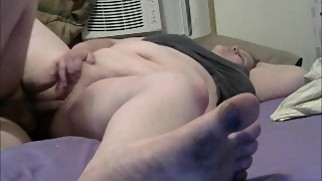 mom play with pussy while son fucking her sideways