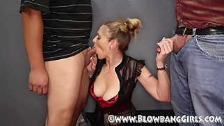 MILF Addison Does A Blowbang Cum Dislike Big Time