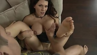Leena Sky: Mom Helps Son With Handjob