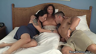 Mom Suckling her son and daughter