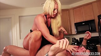 Alura Jenson gets pounded by huge muscle man