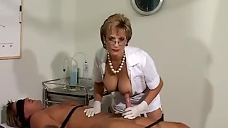 LADY SONIA This is how the Nurse makes him Spunk