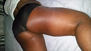 Black Lesbian tribbing and dry humping bed