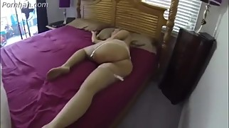 Son fucking Step Mom on bed hot