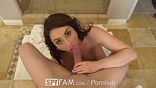 SpyFam Step mom Christiana Cinn fucks big dick step son