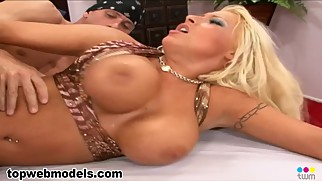 Big Tit Whore CANDY MANSON Fucked by Huge Cock for Cum on Tits Reward! WOW!