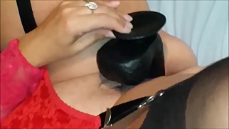 Black dildo for mom