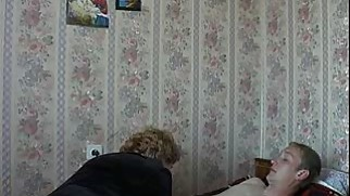 Mom Son's friend Russian Mature Granny Fucking