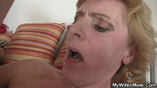 She fucks her horny son's friend