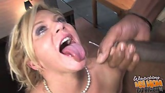 Mature mom fucked by blacks cause son owes them money