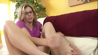 Mom Gives not Son a Footjob WF